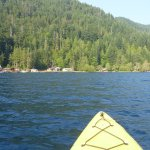 View of Lake Crescent from my rented kayak