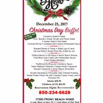 Christmas  Day Buffet PCB- December 25th !Buffets in both Dining rooms.The Boars Head restaura