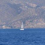 A sailing boat on the Aegean sea