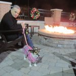 We enjoyed sitting by the fire pit