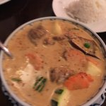 Panang vegetable curry with imitation meat