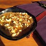 Millets porridge with honey and milk