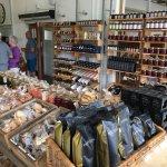 Snacks, preserves, honey, coffee, olive oil on sale