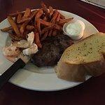 6 oz Sirloin Steak With 6 Prawns (Sat. Special- $11.99)