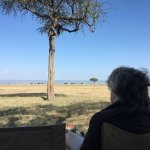 Breakfast in the Mamai wedge on Kenya's border. Gardens of Eden.
