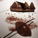 Foie gras lotte et gâteau chocolat