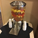 Water with flavor, very nice amenity!