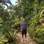 Enjoying the gardens