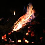 our nightly wood burning fire. wood supplied daily and prepared