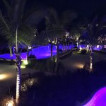 Night view of infinity pool from building 6