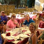 This stop included an amazing lunch and wine tasting including a wonderful brunello.