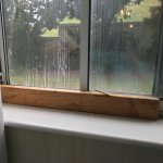 2x4 was to lock the window of our garden level room which was as really the basement! Total disg