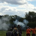 Civil war battle re-enactment just five minutes from house in Brampton Bryan