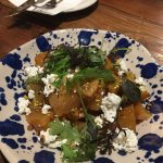 Roasted golden beets with pistachios and feta