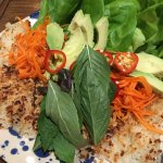 Lettuce wrapped taco with coconut rice