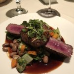 The venison at the Coach House restaurant