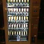 Champagne vending machine at the MO.