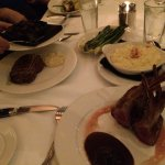 Rack of lamb, lobster risotto, bone-in ribeye