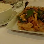 Chicken Fillet With Black Bean Sauce, Steamed Rice
