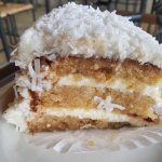 Coconut cake and gyro