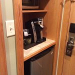 Coffee-maker, refrigerator, microwave