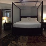 Maeson Room-King bed at the Square Inn on the Wimberley Square Texas