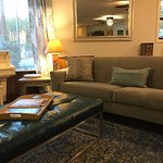 Comfortable Guest Lounge at the Square Inn on the Wimberley Square Texas