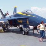 Blue Angels Plane on Flight Deck