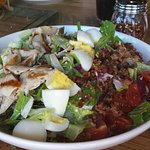 Cobb salad, switch chicken to grilled, very good.