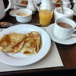 I kept ordering pancakes around Ireland- these were the best! Best brown bread, too! BY FAR.