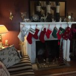 The stocking hung by the chimney with care ... in the Sitting Room.