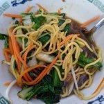 barely hot vegi ramen soup, but it was tasty