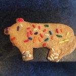 Child decorated pig sugar cookie dessert ;-)