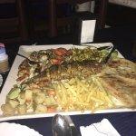 Seafood platter at Seagull restaurant Kochi, India
