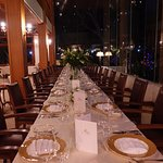 Special table set up for privets party