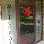 Front door of Switchback Restaurant