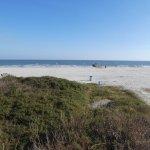 Galveston Beach across the street from the hotel
