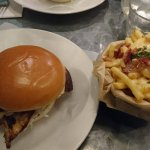 Grilled Chicken Burger + Bacon Cheese Fries