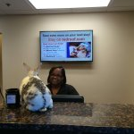"Very nice General Manager, Michelle Lassiter; chats with my rabbit ""Narvik"" during checkout...."