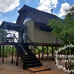 All room are raised with views of the waterhole