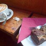 average coffee, very tasty brownie