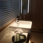 Lovely Marble tops with large mirror seperate toilet and shower Excellent and always so clean