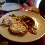 Migas de pastor con huevo frito