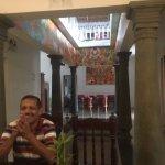 Mr Gopal and inside homestay