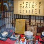 Display window at Kasagiya.