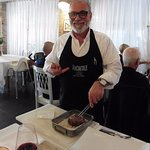 Owner & Chef Rocco proudly preparing Fillet of Beef in salt crust OMG!!