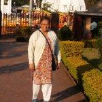 Narmada temple behind