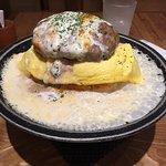 Omelet+burgers+fondue cheese