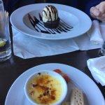 Two puddings plus bland crème brûlée