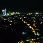 View of Surabaya City from our room